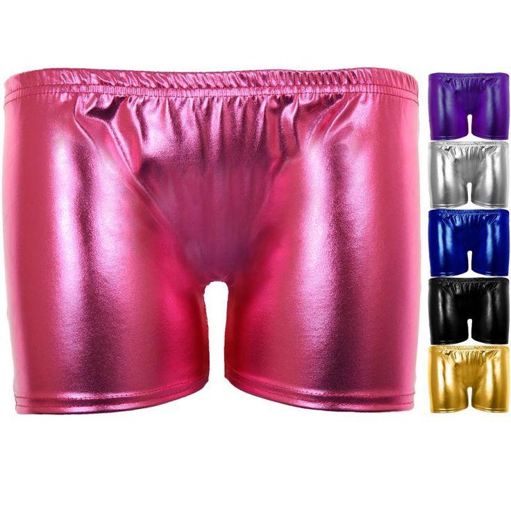 Ladies Metallic Gym Gymnastics Dance Stretch Shiny Women's Hot Pants Shorts #FantasiaBoutiquebyFantasia #HotPants #Party