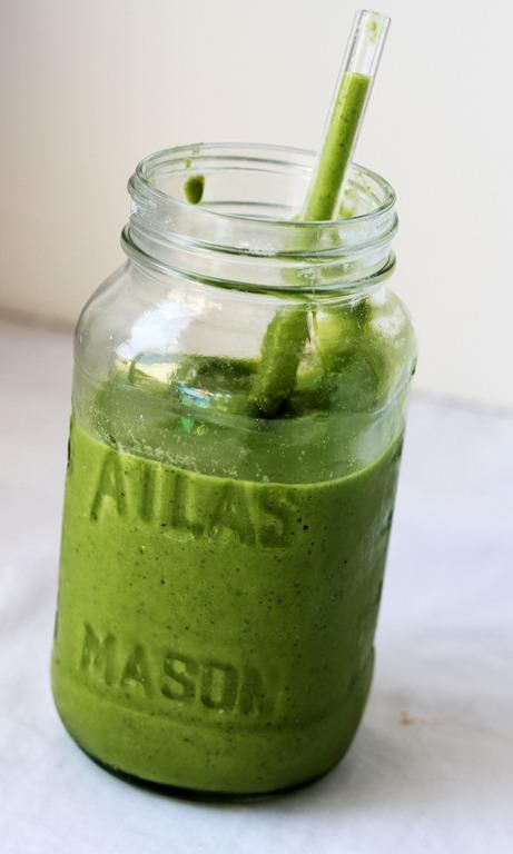 Garden Green Smoothie- Spinach, Kale, Banana, Apple - sounds delicious! and Healthy!