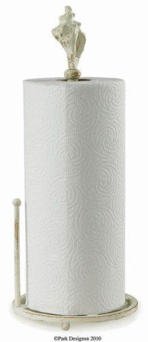 """Tropical Conch Shell Seashell Paper Towel Holder by Park Designs. $34.45. Measures approx 15.5"""" x 6.25"""" x 6.25"""". Paper towels not included. Made of Metal. Tropical Conch Shell Seashell Coastal Paper Towel Holder. Save 14% Off!"""
