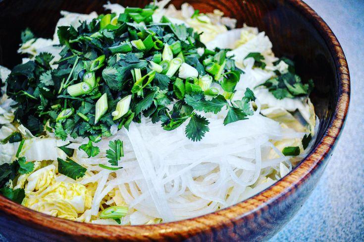 Salade de chou nappa et.daikon