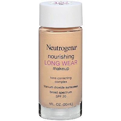 Neutrogena Nourishing Long Wear Make Up ($14.99) ulta.com | Neutrogena's Nourishing Long Wear Make Up. High Performance Makeup: 12 hour all day wear; Full coverage; Fade proof; Resists humidity.