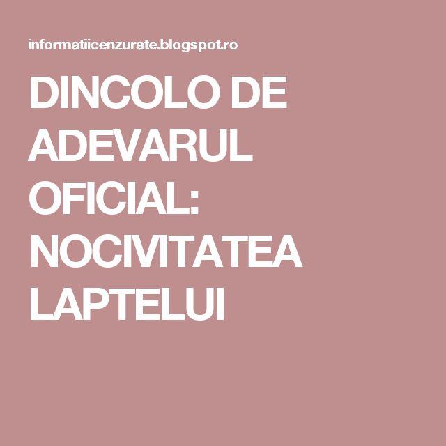 DINCOLO DE ADEVARUL OFICIAL: NOCIVITATEA LAPTELUI