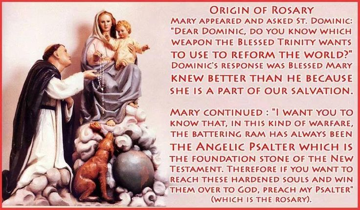 Origin of the Rosary Rosary, Catholic memes, Catholic