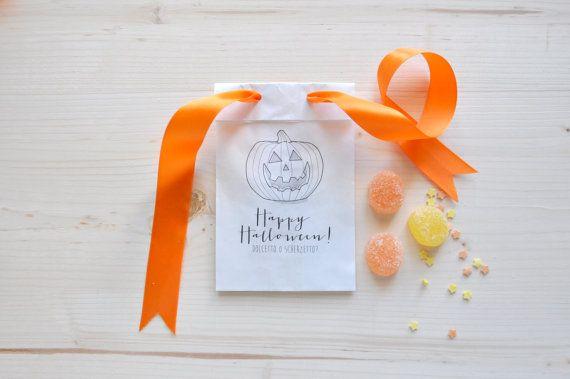 10 Sacchetti per dolci di Halloween di pearlstopigeons su Etsy