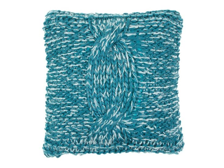 Cable Knit Turquoise Cushion Cover
