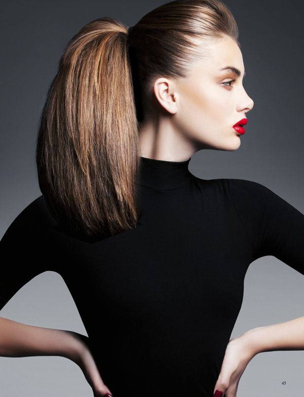 When you're in a hurry, a sleek ponytail is simple to do - all it takes is a little backcombing. Tip: unwashed hair works best. #newlook #hair