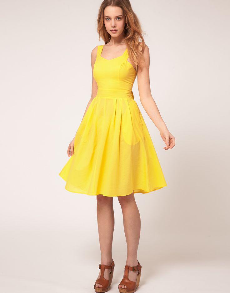 petite yellow sundress asos