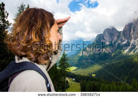#landscape #summer #nature #girl #woman #looking #mountain