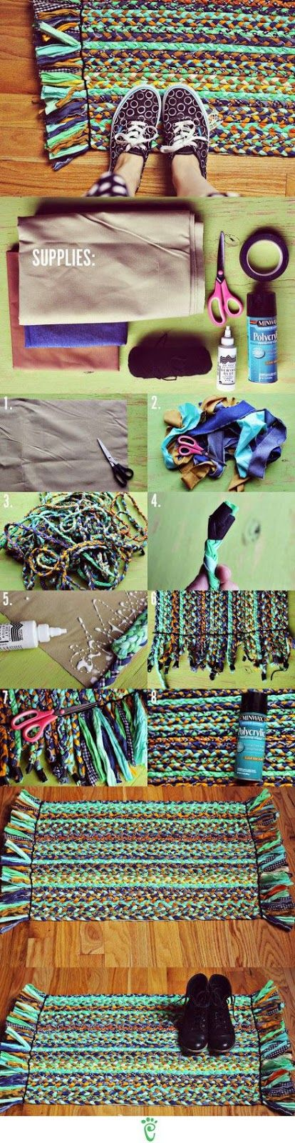 Buongiorno, oggi vi mostro una raccolta di ben 6 tutorial che ci insegneranno come creare dei bellissimi tappeti riciclando le vecchie mag...