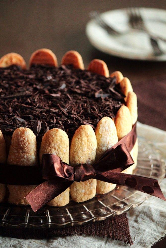 Charlotte au Chocolat recipe  Share the Chocolate Love at http://www.facebook.com/ChocolateIsMyBFF