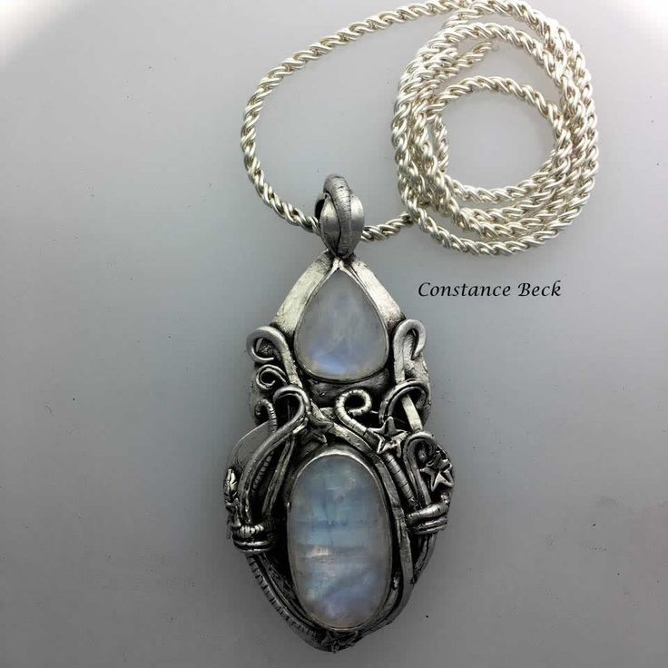 Aussie metal clay by Constance Beck .999 silver pendent hand made
