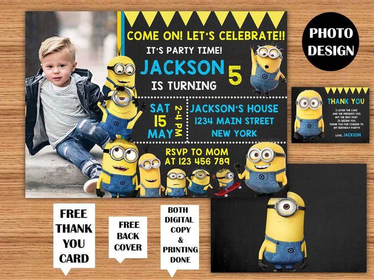 25  best ideas about minion birthday invitations on pinterest