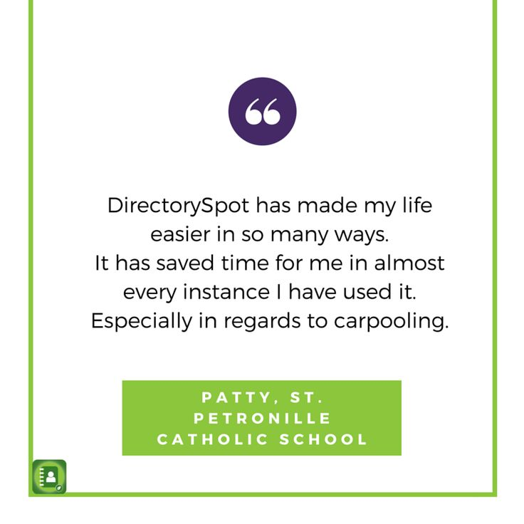 DirectorySpot can be used to manage carpooling.