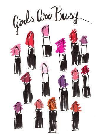 """""""女の子は、忙しい…"""" お洒落もメイクも手間がかかる!けど、やめられないのが女の子…ですよね!"""
