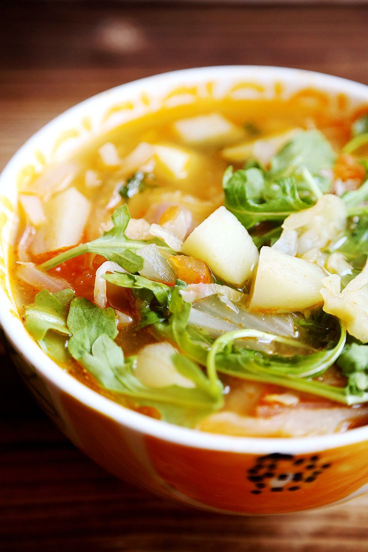 Hot and Sour Cabbage Tomato Soup with Potatoes - Divine Healthy Food