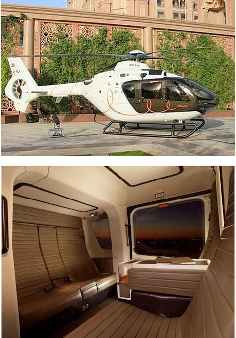 Eurocopter Hermès EC 135 The standard EC 135 will run you a mere $4.2 million, but the one with the interior designed by the world's most opulent luxury accessories maker? Yeah, that's going to run the price up to $6 million. It's hardly surprising, though, since a Hermès suitcase can cost as much as $27,000. As for the helicopter's capabilities, the top speed is 178 mph, but the range is just 395 miles. So, you know, it's really only for short little jaunts.