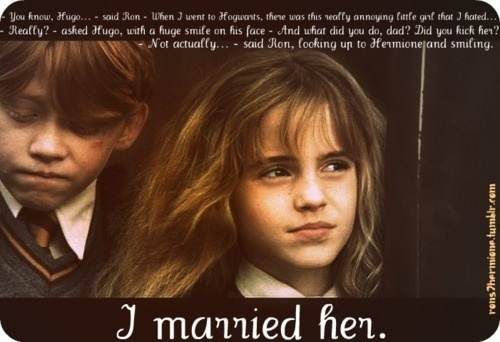 absolutely adorable.: Awww, True Love, Book, Movie, Ron Hermione, Adorable, Ron Weasley, Ron And Hermione, Harry Potter Quotes
