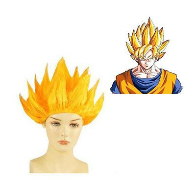 $5.99 Dragon Ball Z Super Saiyan 2 Goku Wig Hair Cosplay Wig Yellow Wig Party Wig in Health & Beauty, Hair Care & Styling, Hair Extensions & Wigs | eBay