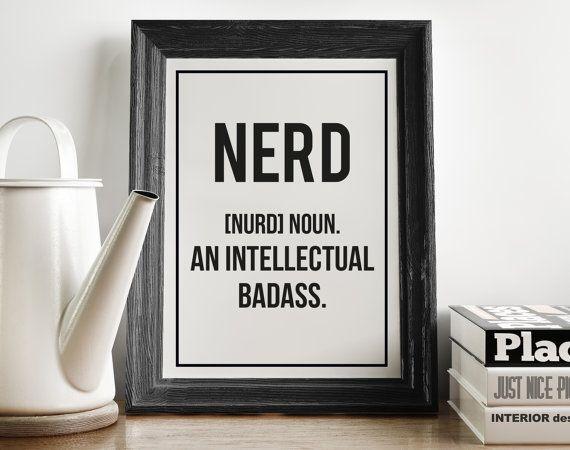 Nerd Definition Print Geekery Kitchen Art by FuzzyandBirch
