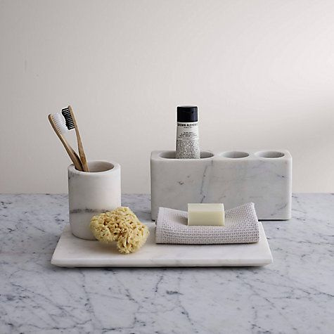Buy John Lewis Marble Basin Tidy, White Online at johnlewis.com