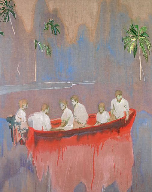 Peter Doig - I forget the title. I just saw this at the Montreal Fine Arts Museum show. A must see.