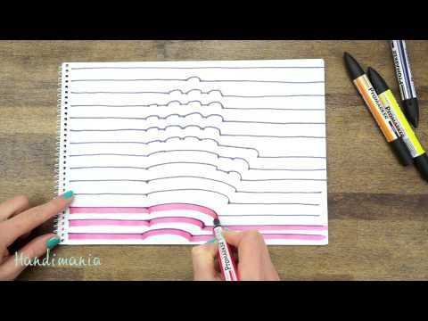 THE coolest! – How To Draw Your Hand In 3D | How Does She