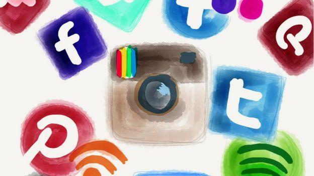 Illustration des logos des réseaux sociaux