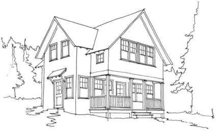Ausmalbild Malvorlage Haus Guest house plans Lakeside