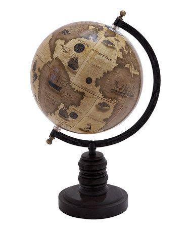 Look at this #zulilyfind! Tan Old World Globe #zulilyfinds