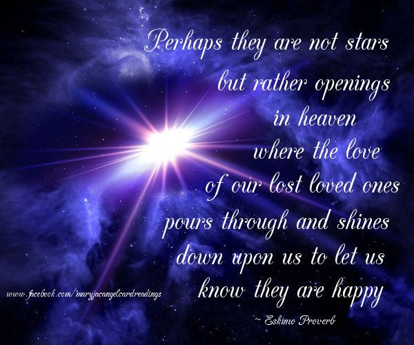 Missing Loved Ones Who Have Died Quotes: Perhaps They Are Not Stars But Openings In Heaven