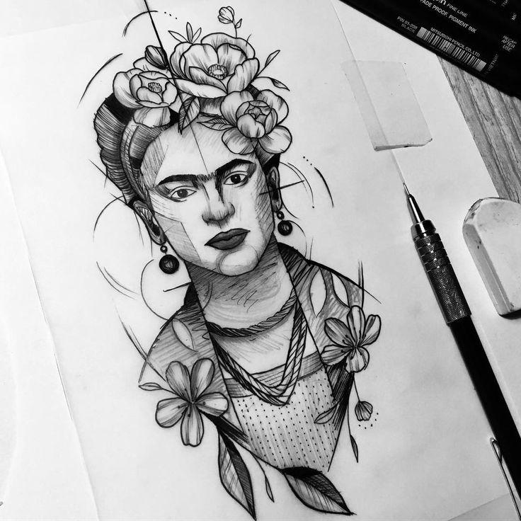 Frida #brunosanss #sansstattoo #studiosans #bblackwork #blacktattoo #tatuagem #tattoo #fridakahlo #frida #blackink