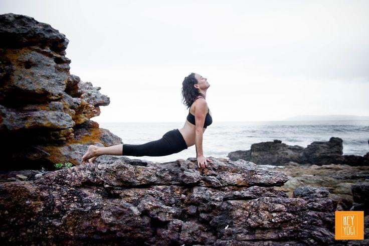 Urdhva Mukha Svanasana with Rachel Zinman.  Yoga photography by Nora Wendel from HEY YOGI.  Plettenberg Bay, South Africa,