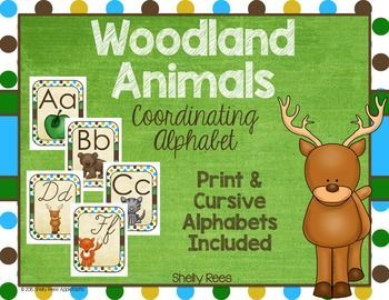Alphabet Lines are a necessary part of any classroom decor. This Woodland Animals Alphabet Line is the perfect complement to your classroom.  Created with mossy greens, eggshell creams, and deep browns, this alphabet line is a beautiful addition to your classroom walls. This resource includes BOTH cursive and print alphabets.