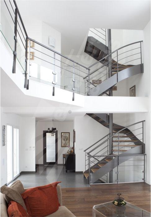 Dt71 spir 39 d co d 39 angle mixte droit formant escalier 2 - Deco appartement duplex contemporain ...