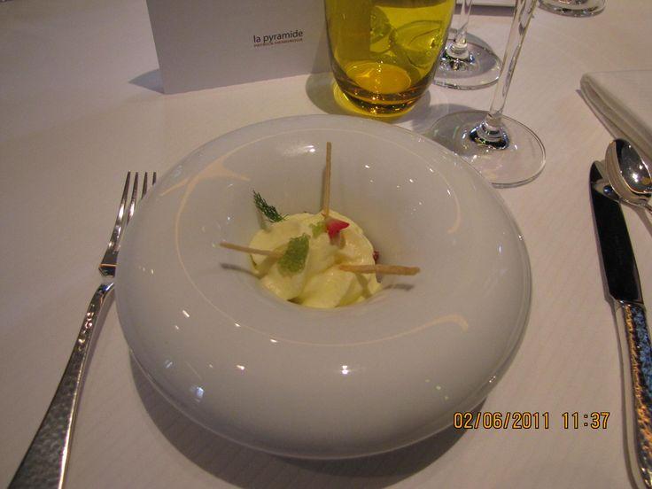 Souvenir d'un repas à La Pyramide Vienne