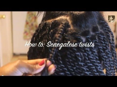 Twist from the Root: Senegalese twists on Relaxed hair