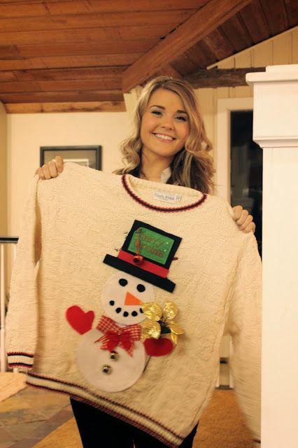 My Sweet Savannah: ~craft night~ {ugly Christmas sweaters}