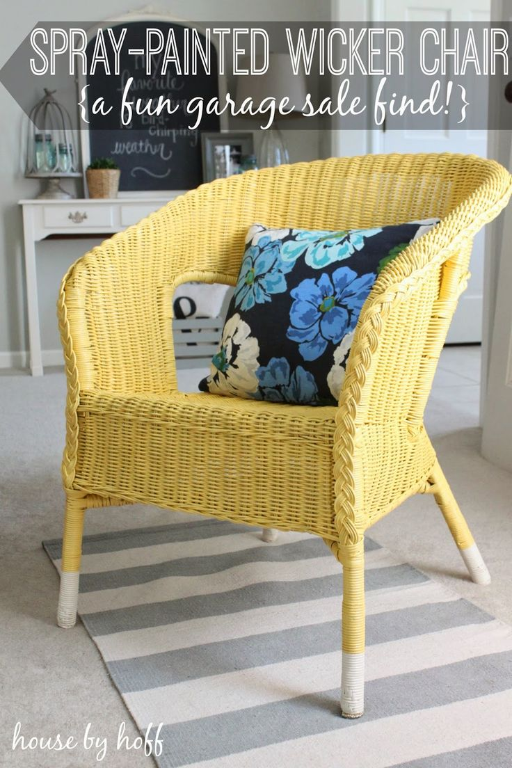 30 thursday a spray painted wicker chair