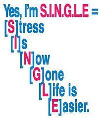 Yes I'm SINGLE   http://www.jennibailey.com/tagalog-jokes-quotes/anong-klaseng-single-ka/yes-im-single/