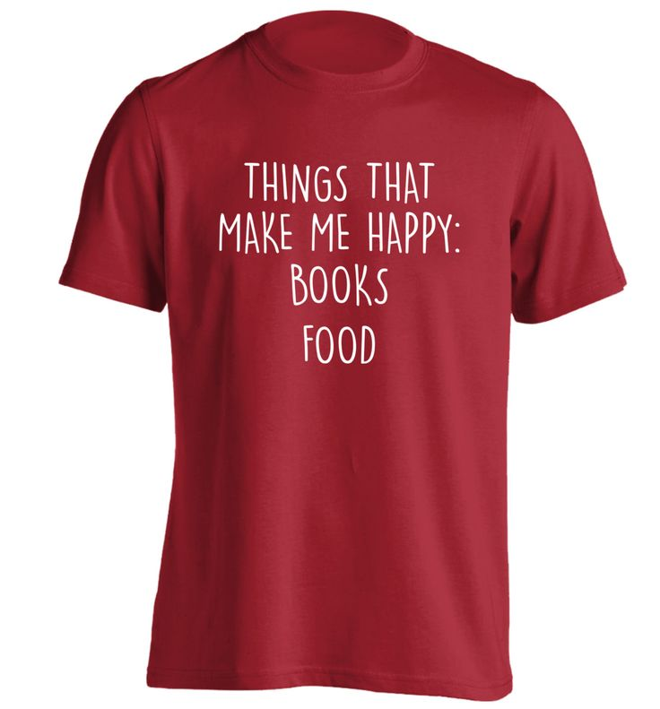 New to FloxCreative on Etsy: Things that make me happy: Books food T-shirt hipster slogan joke funny anti-social reading nerd dork geek pizza fries junk fast food 882 (12.95 GBP)
