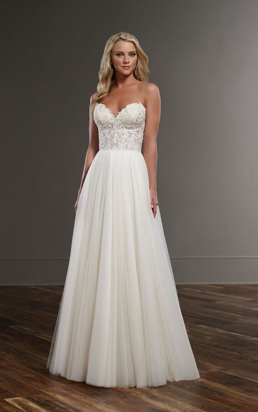 Celia+Scout Flowing Wedding Dress Separates by Martina Liana