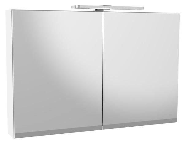 Gustavsberg-Kaksiovinen Artic LED-peilikaappi, Matte White, 944x650x132-2
