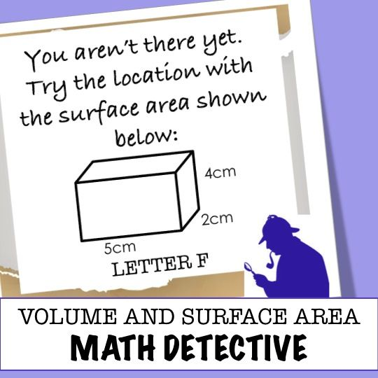 Volume and Surface area of triangular and rectangular prisms - the latest in the math detective series. Math practice can be fun and engaging.