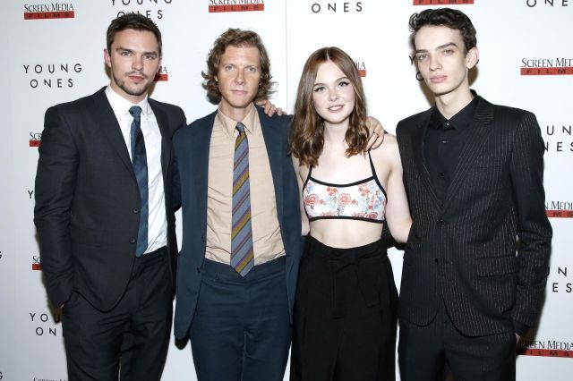 "Nicholas Hoult, Jake Paltrow, Elle Fanning, and Kodi Smit-McPhee at the ""Young Ones"" New York Premiere"
