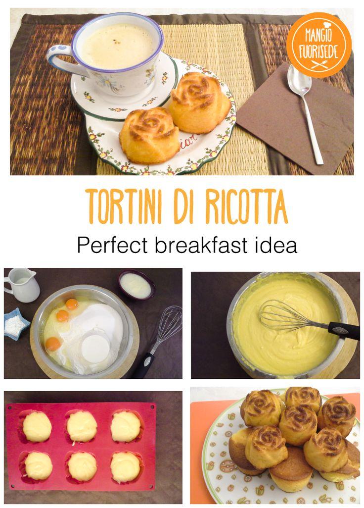 Tortino di Ricotta. Ricetta su http://mangiofuorisede.altervista.org/torta-di-ricotta-un-dolce-lunedi/  #Breakfast #Colazione #Ricette #RicetteGolose #RicetteDellaNonna #Dolci #Dessert