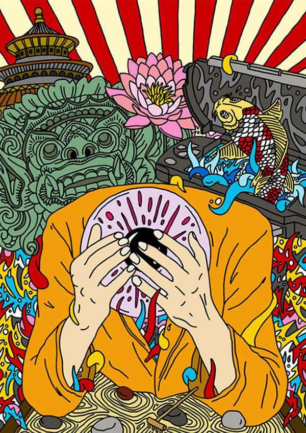 Flavio Melchiorre Renders Engaging and Psychedelic Graphics #psychedelicart trendhunter.com