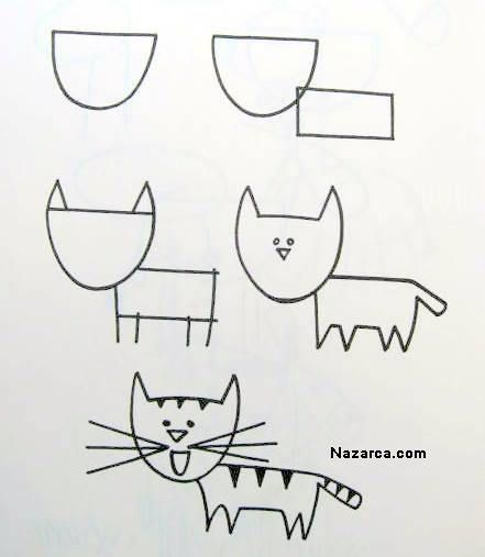 śmieszne kreskówki kota cizimi