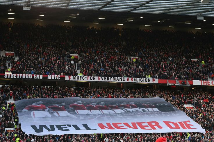 ...with a banner at Old Trafford