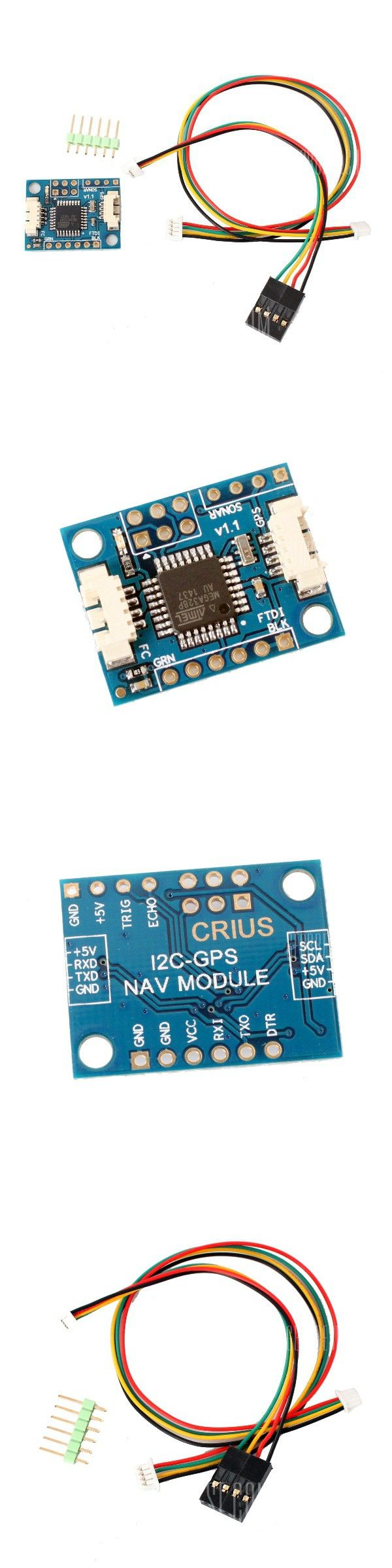 CRIUS MultiWii MWC I2C-GPS Adaption Board with Molex socket Pointer for 328P MWC Flight Controller