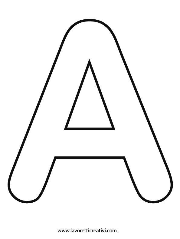 LETTERE DELL'ALFABETO DA STAMPARE Con queste letterine avete a disposizione tutte le sagome dell'alfabeto. Potete stamparle e utilizzarle nel modo che vole